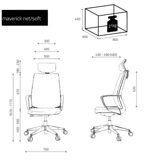 krzesło biurowe fotel dane techniczne